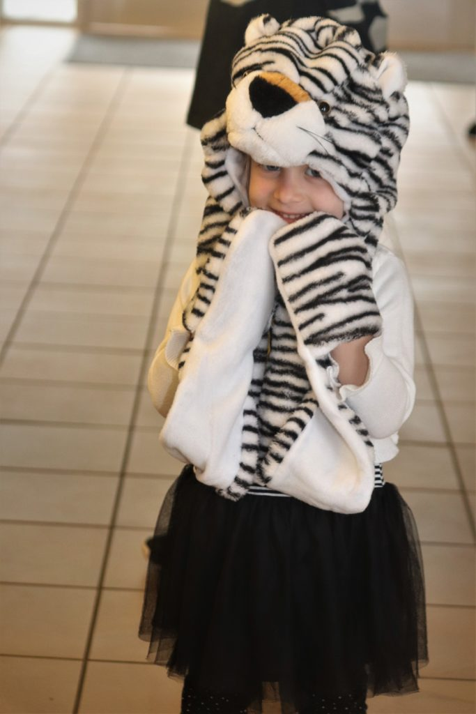 child in tiger costume