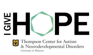 "The logo for the Friends of Autism group that says ""I Give Hope"""