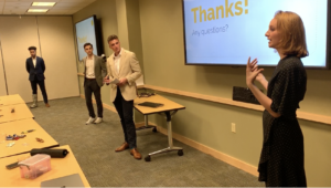 students give their final presentation