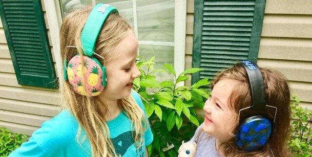 vanessa and leah clevenger wear sensory headphones